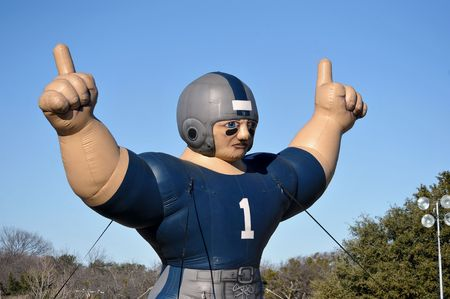 Inflatable football man