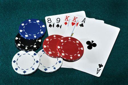 A game of poker Stok Fotoğraf