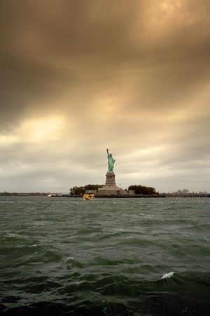 immigrate: Statue of Liberty Stock Photo