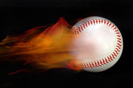 Baseball on Fire Stock Photo - 4861916