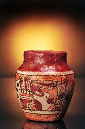 Pre Columbian Mayan Painted Vase Stock Photo Picture And Royalty