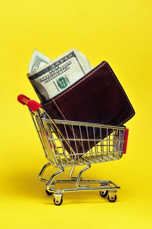 Are you spending all your money at the store? Stock Photo