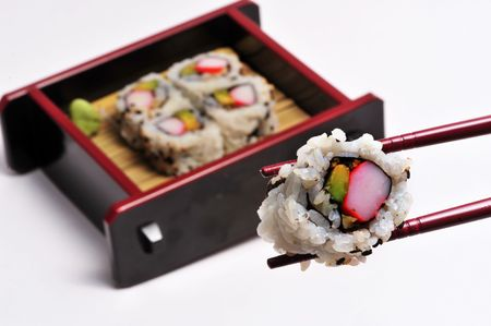 Sushi in a box. Banco de Imagens - 5714821