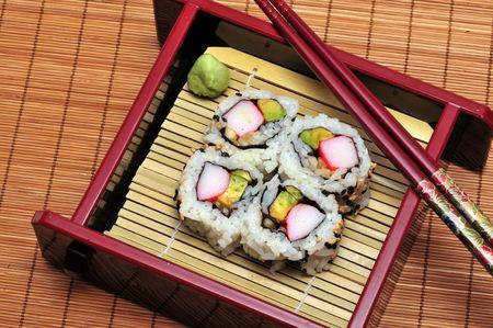 Sushi in a box.