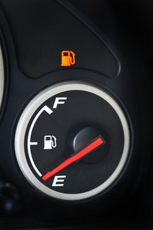 Gas gauge on empty photo