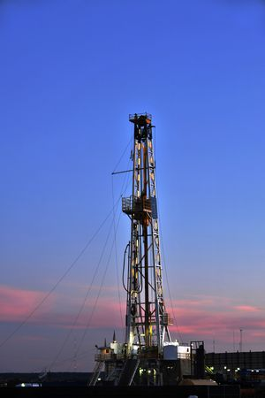 Texas Oil Well Rig Stock Photo