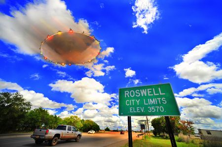 UFO in Roswell, New Mexico Stock Photo - 5960800