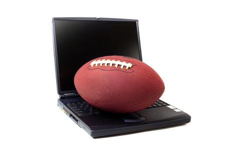 Football and the Computer 版權商用圖片