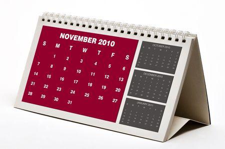 almanac: New November 2010 Calendar. Stock Photo
