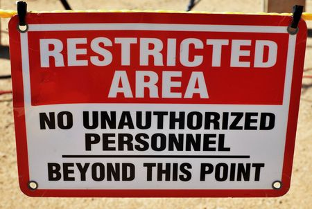 restricted area: Restricted Area