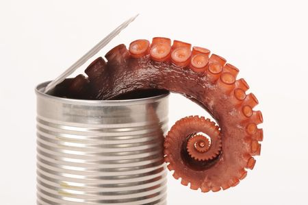 Octopus in a Can. Stock Photo - 6203876