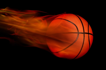 Basketball on Fire Stock Photo - 6730986
