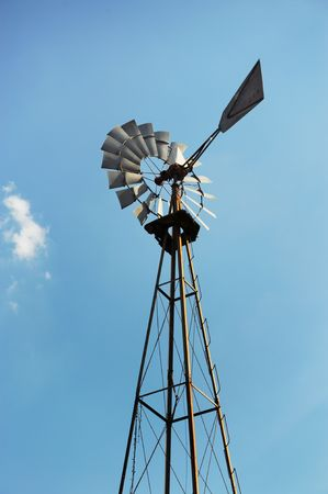 Old farm windmill.