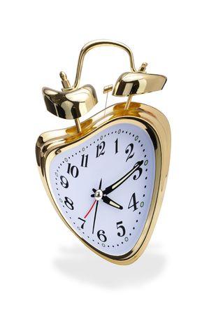 Crazy golden alarm clock. Stock Photo - 7925669