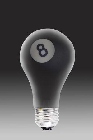 8 ball billiards: Eight Ball and Light Bulb