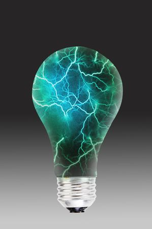 Electric storm in a light bulb. Imagens