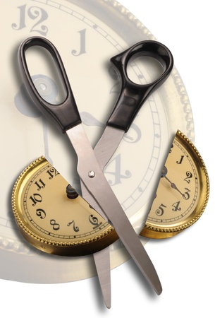 Cut Time in Half. Stock Photo - 8647113