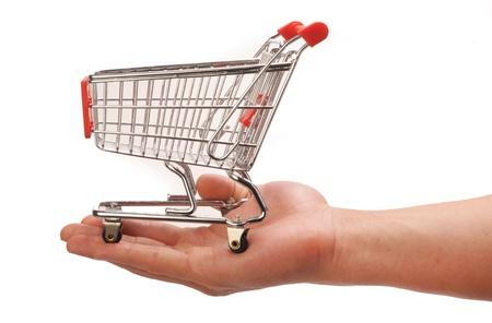 shopping buggy: Shopping in Haand.