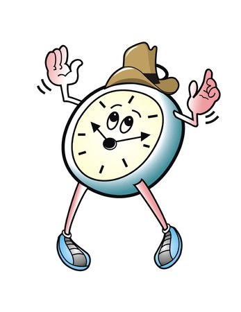 Cowboy Alarm Clock. Stock Photo - 9037043