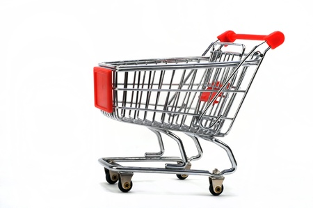 Empty Shopping Cart. Stock Photo - 9304393