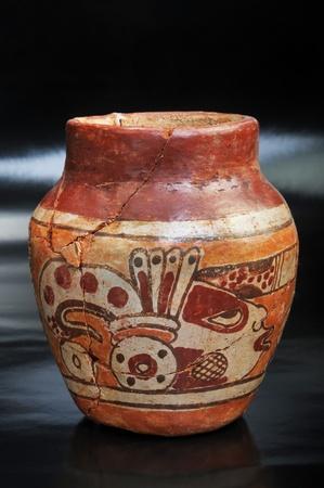 pre columbian: Pre Columbian Vase Made around 600 AD.