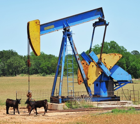 oil well pumper: Oil Well Pumper in West Texas.