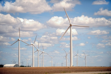 sweetwater: Wind Turbines in Sweetwater,Texas.