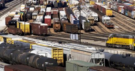railway transportation:  Train Yard In Fort Worth,Texas .