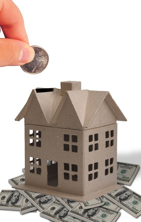 Dropping Money Into Your home.  Stock Photo - 10909756