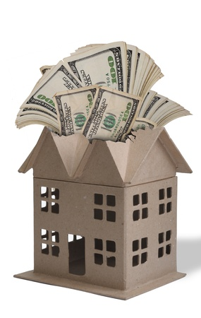 wasting: Home Full of Money. Stock Photo