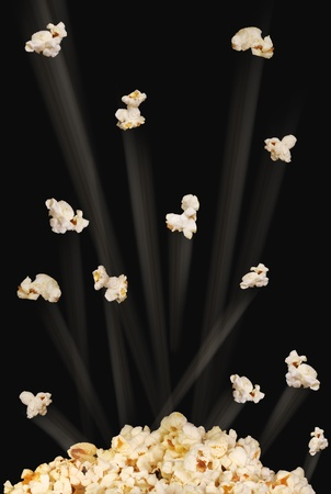 zooming: Pop Corn Stock Photo