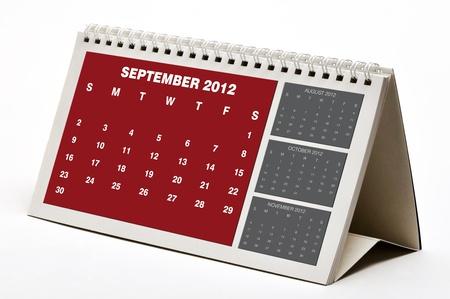 September 2012 Calendar Stock Photo - 11107251