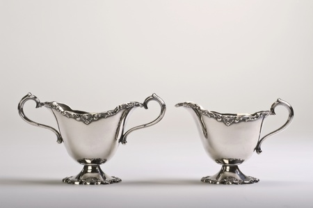 creamer: Antique English Sugar and Creamer.