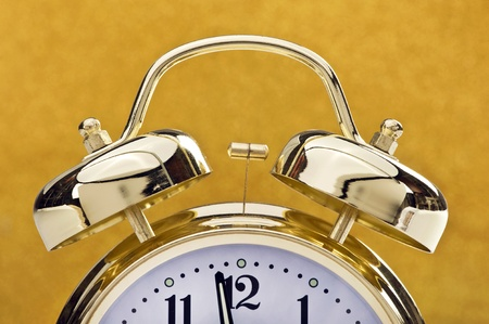 Golden Bell Alarm Clock. Stock Photo - 11391118