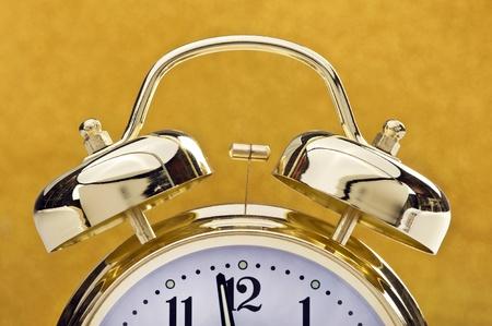 Golden Bell Alarm Clock. Stock Photo - 11391118