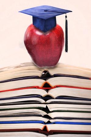 Books and Graduation. Stock Photo - 11718411
