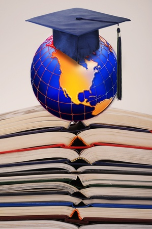 Books,Education and the New Planet Earth. Stock Photo - 11718410