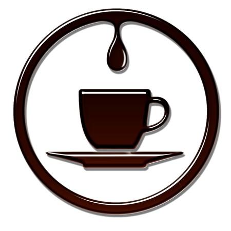 Tazza di caff� con gocciolamento.