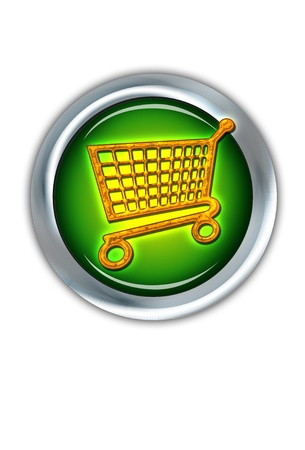 E-Commerce iShopping Button. Stock Photo - 11718425