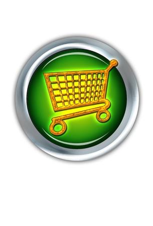 E-Commerce iShopping Button. Stock Photo - 11718425