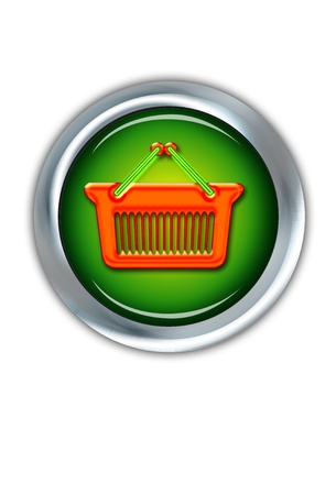 E-Commerce  Shopping Button. Stock Photo - 11718383