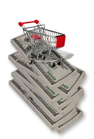 Shopping for Money. Stock Photo - 11718429