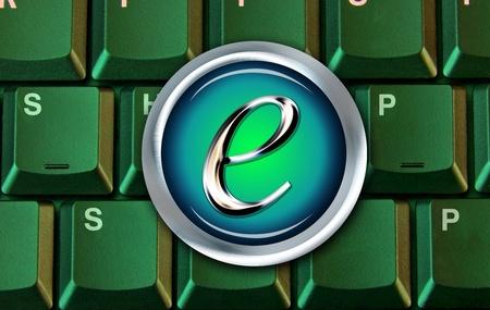 E-Commerce Shopping Button. Stock Photo - 11835382