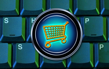 E-Commerce Shopping Cart. Stock Photo - 11835385