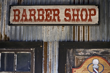 barber scissors: Barber Shop Stock Photo