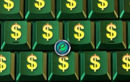 Dollar Sign Computer Key Board. Stock Photo - 11835407