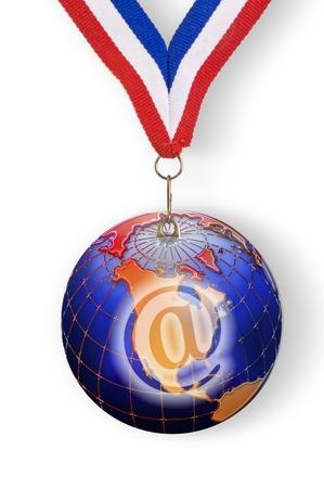 World E-Commerce Award metal. Stock Photo - 11943412