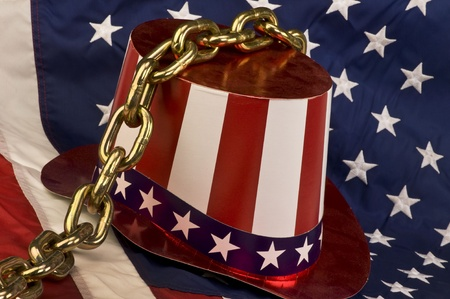 America Chained Down. Stock Photo - 11970303