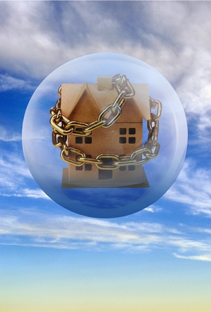 Housing Bubble. Stock Photo