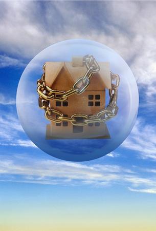 Housing Bubble. Stock Photo